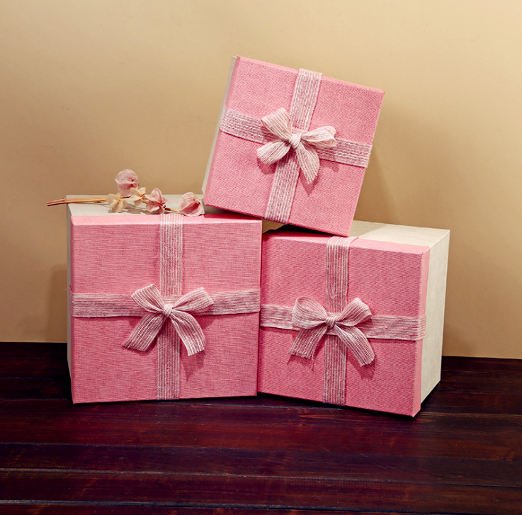 In Stock Large Square Paper Suitcase Gift Box, Gift Paper Box For Gift