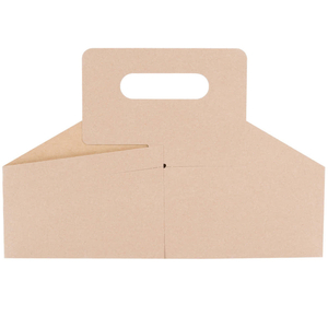 2021 Hot Sale Custom Logo Cardboard 4 Pack Wine Box Carrier Portable Handle Packaging box