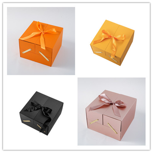 Luxury Creative Packing LOVE Gift Box Double Square Flower Box