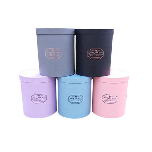 Hot sale wholesale paper round boxes for flowers