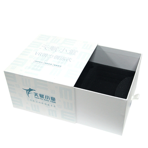 Portable drawer box with shopping bag