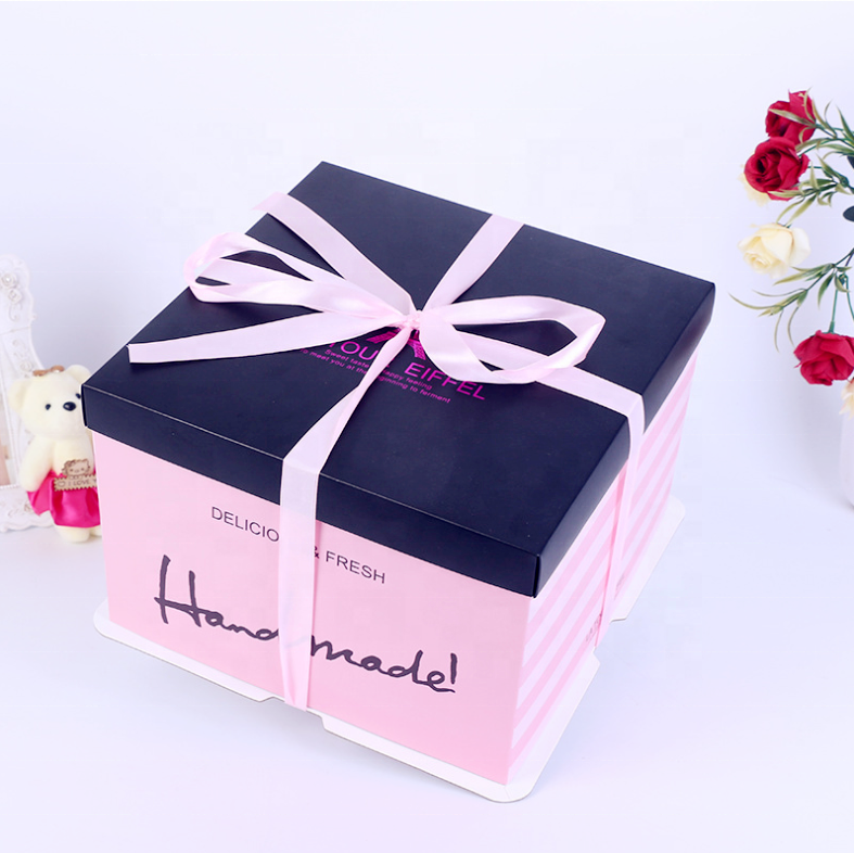 Square Manufacturer Custom Logo Birthday Cake Box