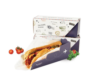 2021 Hot Sale Wholesale Food grade eco-friendly cardboard coated sandwich food packaging box