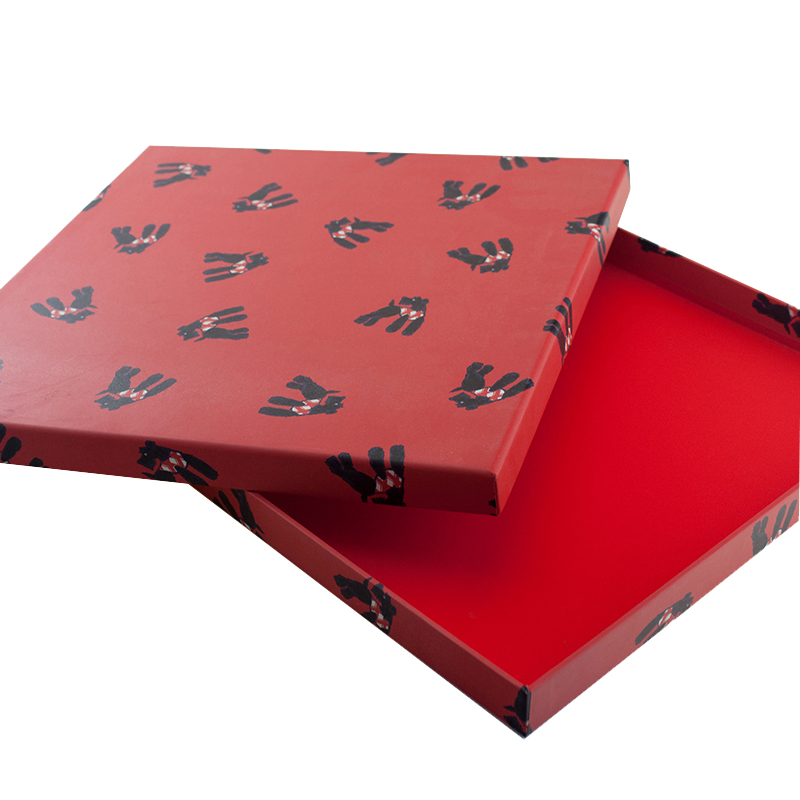 2020 New Red Precise Hardboard Flat Printing Personalised Packaging Sweets Box