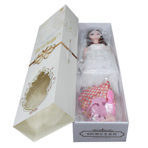 Factory customized Barbie doll packaging box Princess doll creative portable gift box Children's toy color box