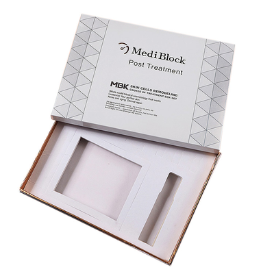 Custom Luxury White color Woman Skin Care Paper Packaging Box with Lid