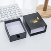 Customized Luxury Black Color Gold Foil Stamping Packaging Gift Paper Drawer Box