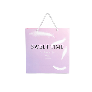 Customised Shopping Retail Gift Box Custom Pink Paper Bag Logo Printed Recycled Small Paper Packaging Bags For Gifts