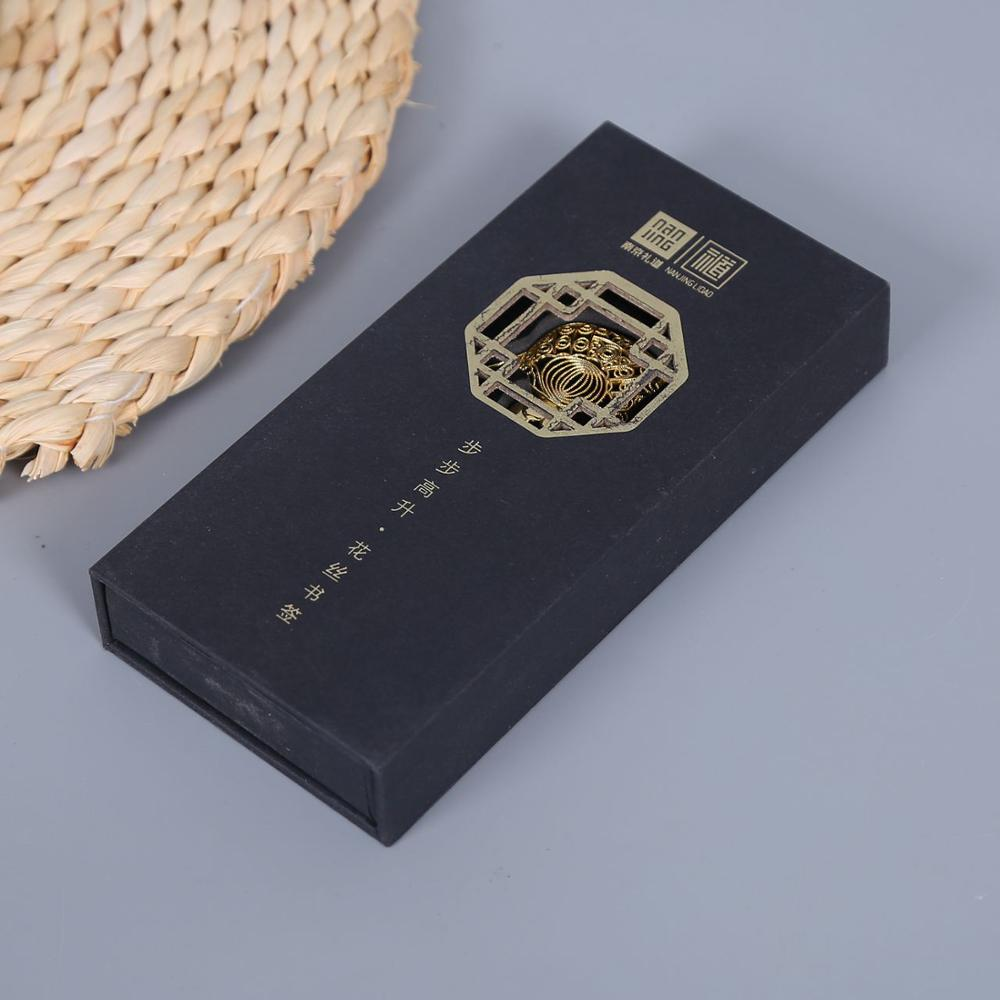 Customized Black Color Gift Paper Box For Bookmark Packaging With Printed Logo