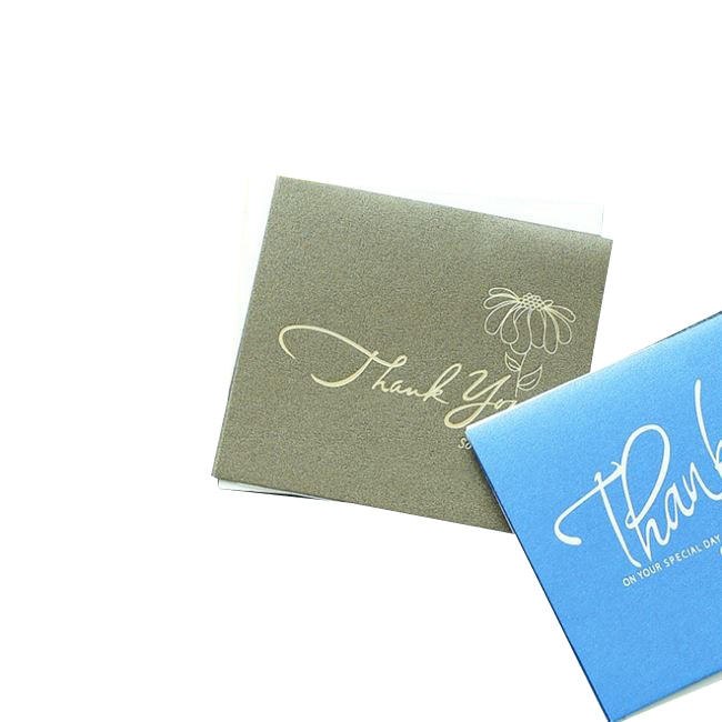 Hot stamping Customized bulk envelopes & stickers including thank you cards for wedding graduation