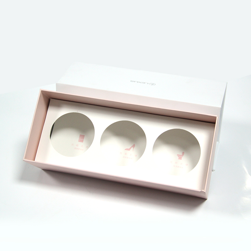 High grade white cardboard drawer cosmetic and make-up instrument box with insert