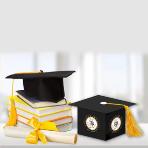 graduation season high school graduation ceremony HAT Gift Box Pendant world cover candy box