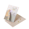 250gsm 300gsm gold foil greeting card thank you birthday Gift Card