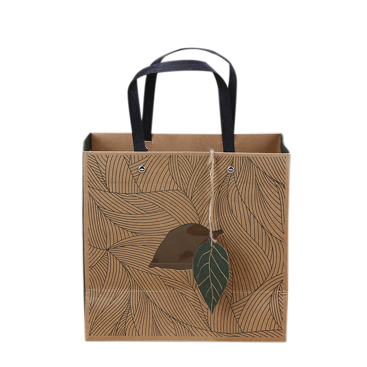 Manufacturer Paper Shopping Bags with Logos,flat Handle Paper Bags Small