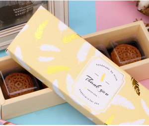 OEM Custom China Style Paper Box Designs Moon Cake Hard Paper Box With Ribbon, Paper Box Sweet