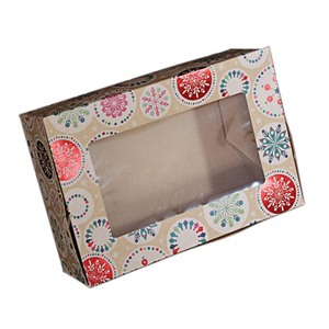 Cross border Amazon special supply kraft paper box Christmas gilding gift box party biscuit Candy small paper box