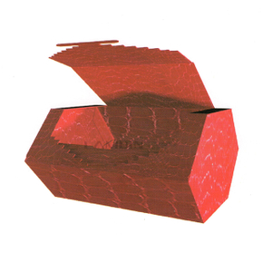 conglutinated hexagonal box for chocolate packaging