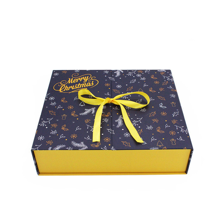 Custom Printing logo Luxury christmas gifts dates paper box with bow
