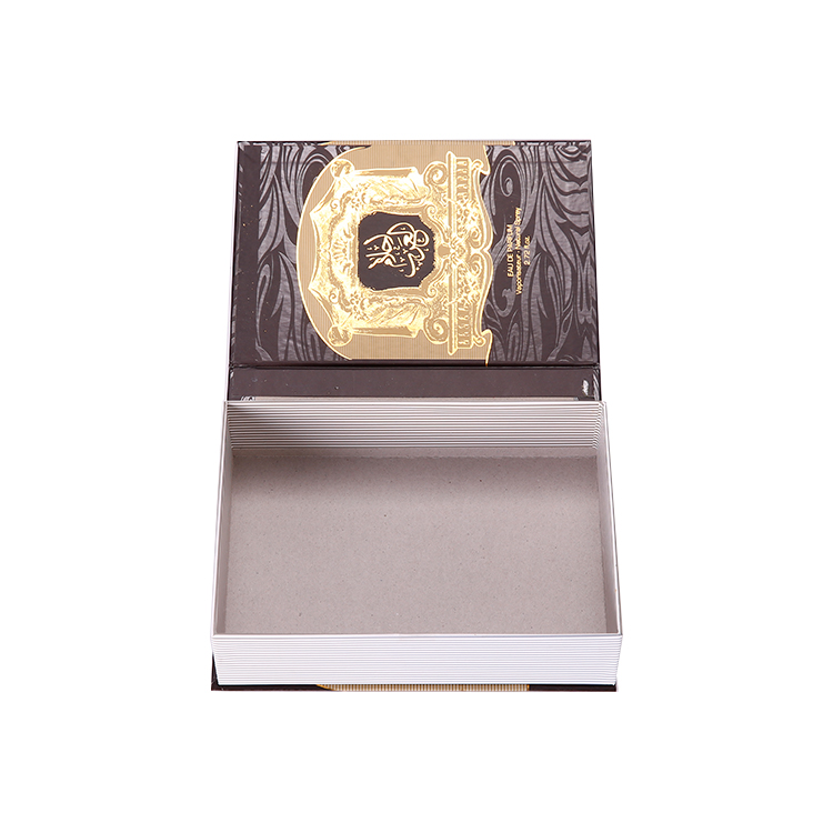 Wholesale High Quality Luxury Paper Packaging Box Use Book Shape With Custom Logo Design For Gift