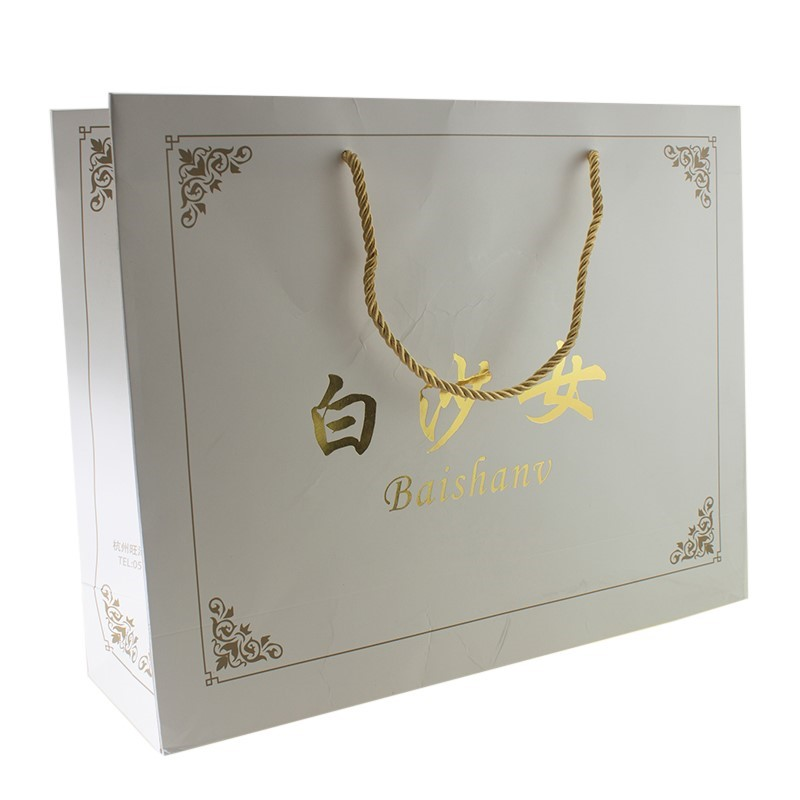 Wholesale Hot Stamping Paper Handbag, Paper Gift Bag With Twisted Rope