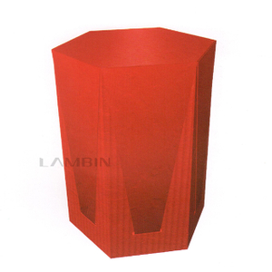 The Box with The Shape of Regular Hexagonal Prism Fea-tures in Its Star-like Top And Tray-shaped Body