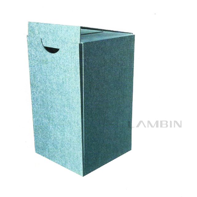 The Paper Box with Foot And Folded Buckling Flaps