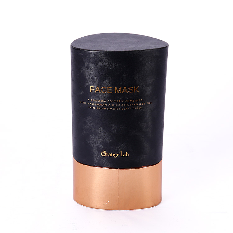 High End Customized Luxury Black Art Paper Packaging Rigid Round Tube Gift Box