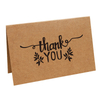 Popular Products 2021customaized Small Thank You Cards Kraft Paper