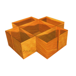 packaging box with inner dividers