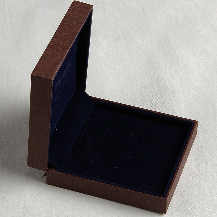 Pearlescent Paper Box With Black Foil And Embossed For Noble Jewelry