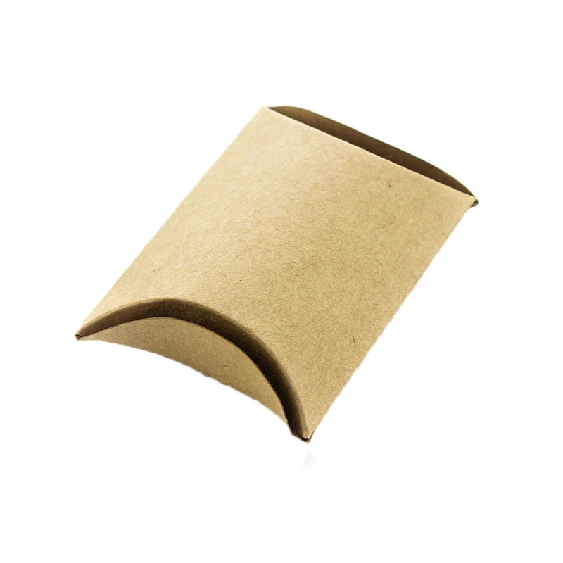 Socks Packaging Blank Brown Kraft Paper Pillow Gift Box