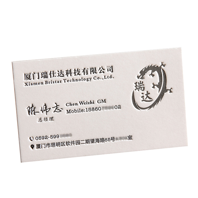 2021 Custom luxury cotton paper greeting business cards Printing Service
